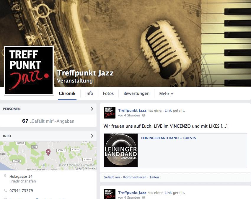 Treffpunkt-Jazz auf Facebook