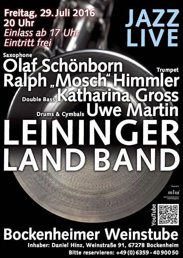 LEININGERLAND BAND in der Bockenheimer Weinstube 29072016