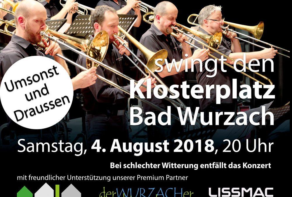 Jazz Point Big Band Wangen auf den Treppen des Klosterplatzes