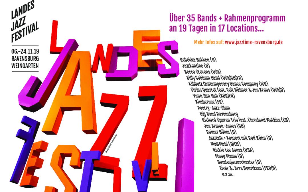 Landes Jazz Festival Ravensburg-Weingarten – 06. – 24.11.2019